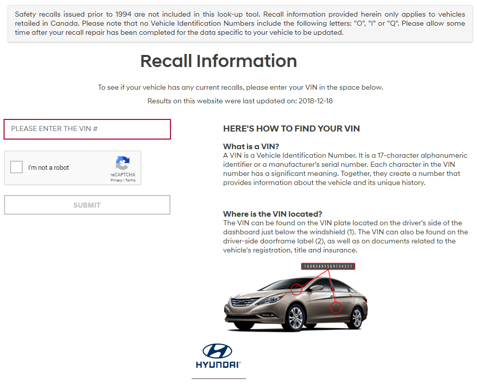 Check for Hyundai Recalls London | Finch Hyundai