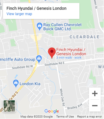 Map of Finch Hyundai