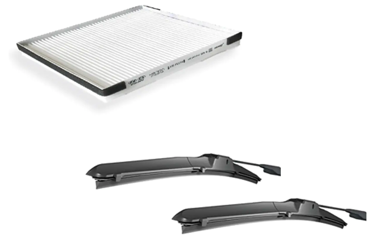 15% off - Wiper blades & Air Filters