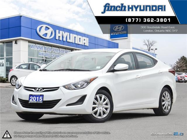 Used 2015 Hyundai Elantra GL Automatic in London Ontario at Used Car Clearance prices from Finch Hyundai