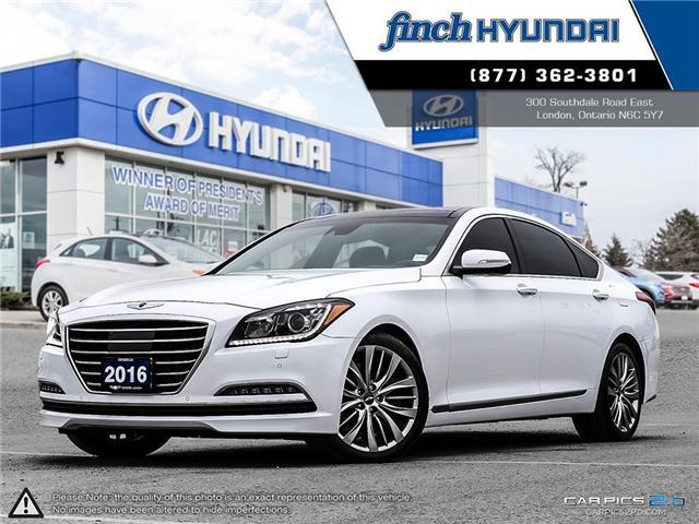 Used 2016 Hyundai Genesis Sedan 5.0L R-Spec in London Ontario at Used Car Clearance prices from Finch Hyundai