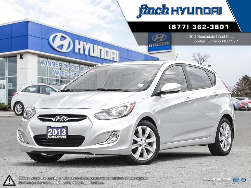 Used 2013 Hyundai Accent GL Hatchback in London Ontario at Used Car Clearance prices from Finch Hyundai