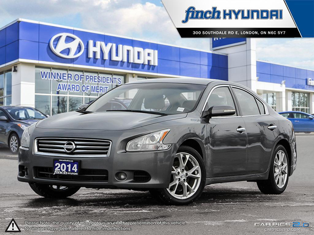 Used 2014 Nissa Maxima SV in London Ontario at Used Car Clearance prices from Finch Hyundai