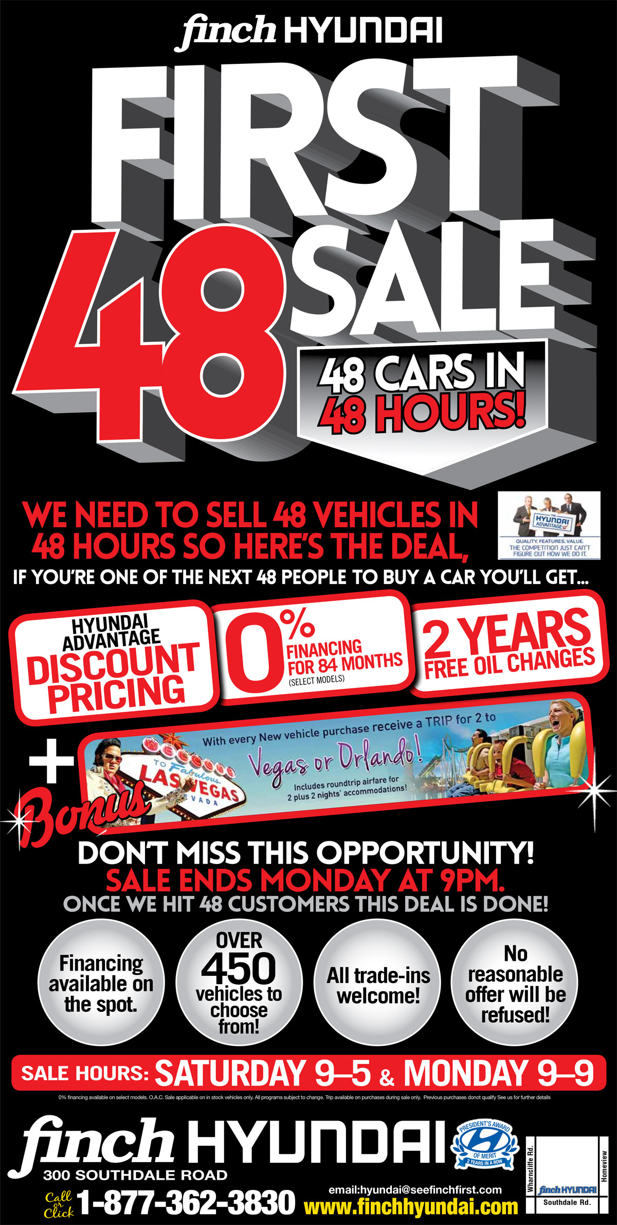 We need to sell 47 vehicles in 48 hours so here's the deal