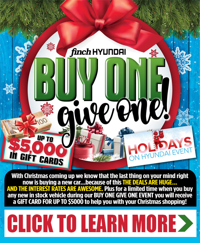 With Christmas coming up we know that the last thing on your mind is buying a new car. That's why these DEALS ARE HUGE during our Buy One, Give One Event!