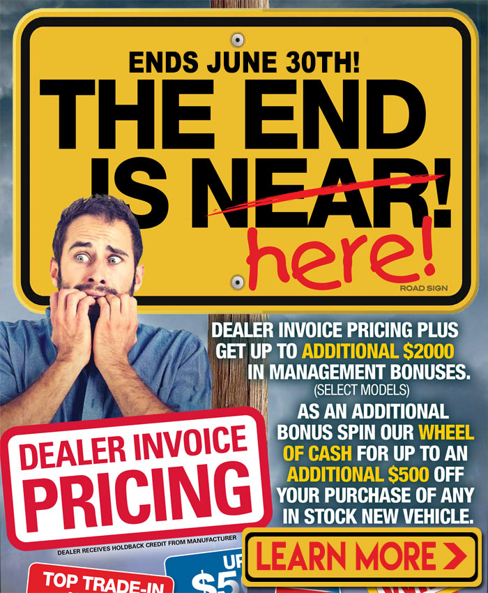 You pay what we pay during the final days of our Dealer Invoice Pricing Event on new Hyundai cars and SUVs in London at Finch Hyundai