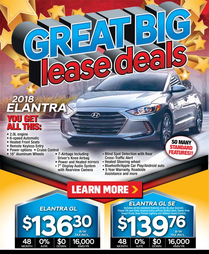 Great big lease deals on new 218 Hyundai Elantra in London Ontario from Finch Hyundai