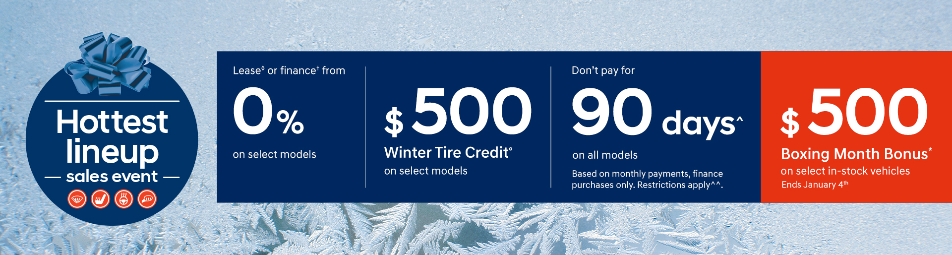 Special Offers on new vehicles at Finch Hyundai in London Ontario