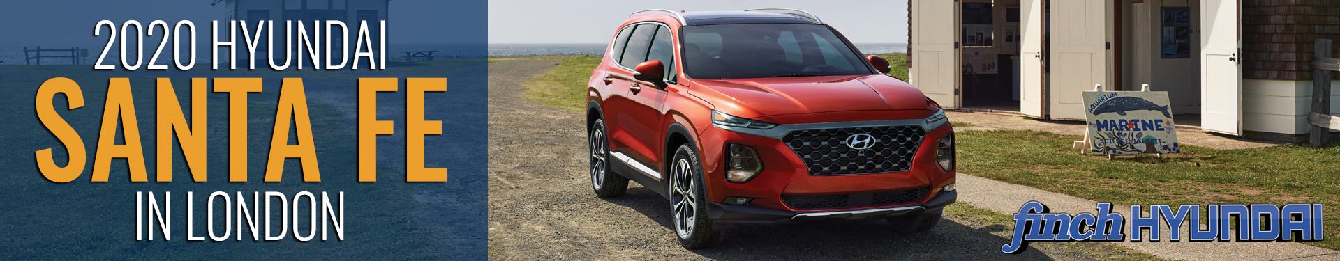 Discover the new 2020 Hyundai Santa Fe in London Ontario, Sarnia, Stratford & Woodstock from Finch Hyundai, new SUV in London