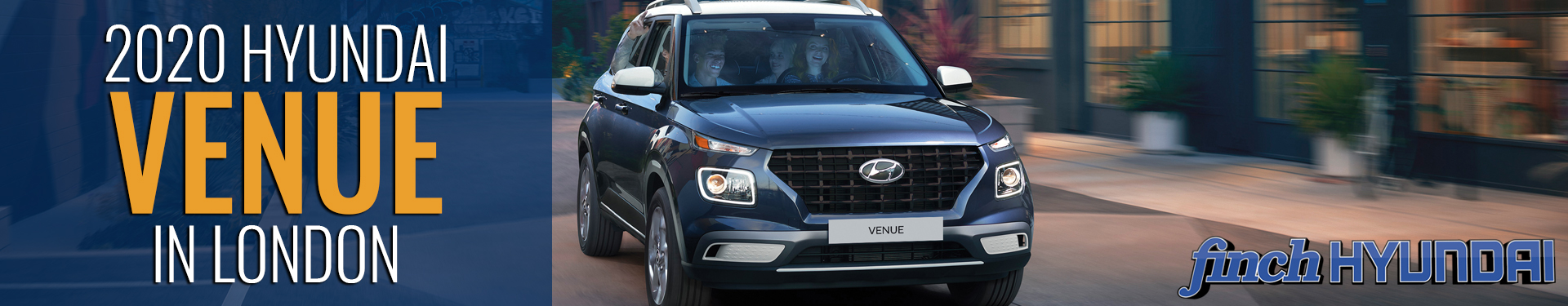 Discover the new 2020 Hyundai Venue in London Ontario, Sarnia, Stratford & Woodstock from Finch Hyundai, new SUV in London