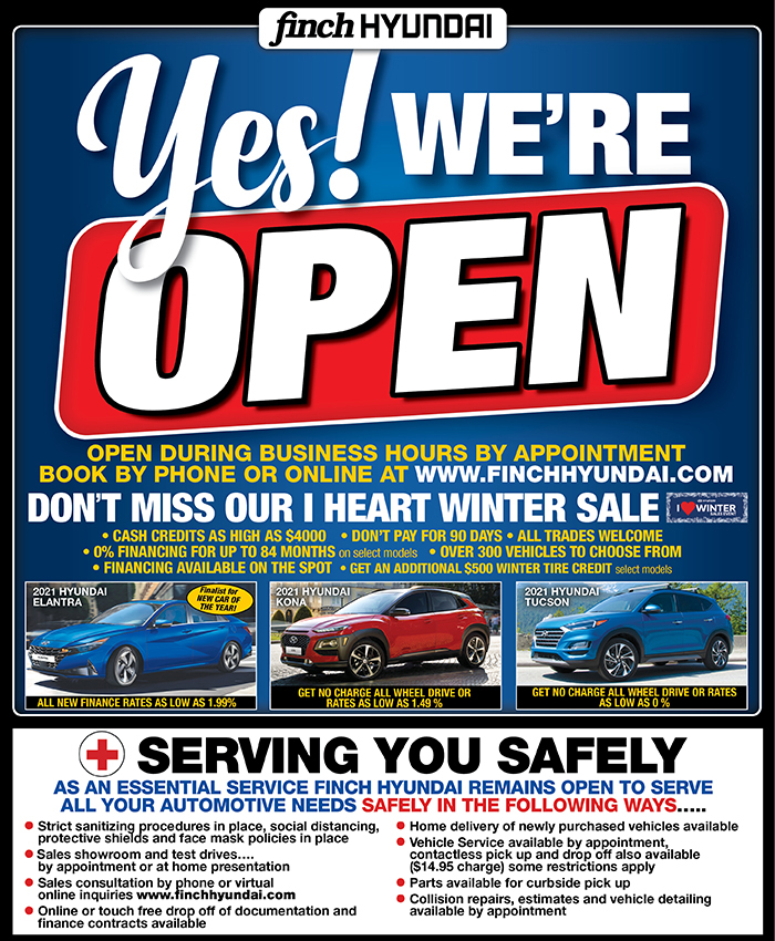Yes we're open for our I Heart Winter sales event