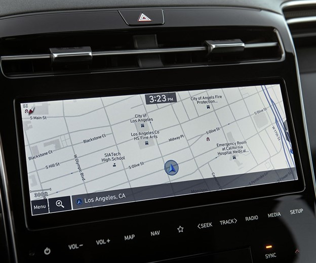 Touch screen with nav