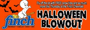 Get great deals and a free set of snow tires with the purchase of any 2015 vehicle from Finch Chevrolet in London on Thursday, October 29th