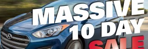 Enjoy 10 more days of Massive Savings on new and used Hyundai cars and SUVs in London Ontario during another great sale at Finch Hyundai, your Hyundai superstore!