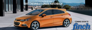 2017 Cruze Hatchback coming soon to London Ontario at Finch Chevrolet