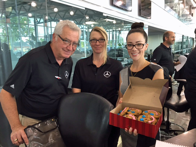 We're full of Smiles at Mercedes-Benz London during Smile Cookie week in London