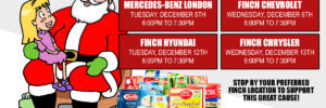 Help Finch Auto Group support the BusinessCares Food Drive this Holiday Season!