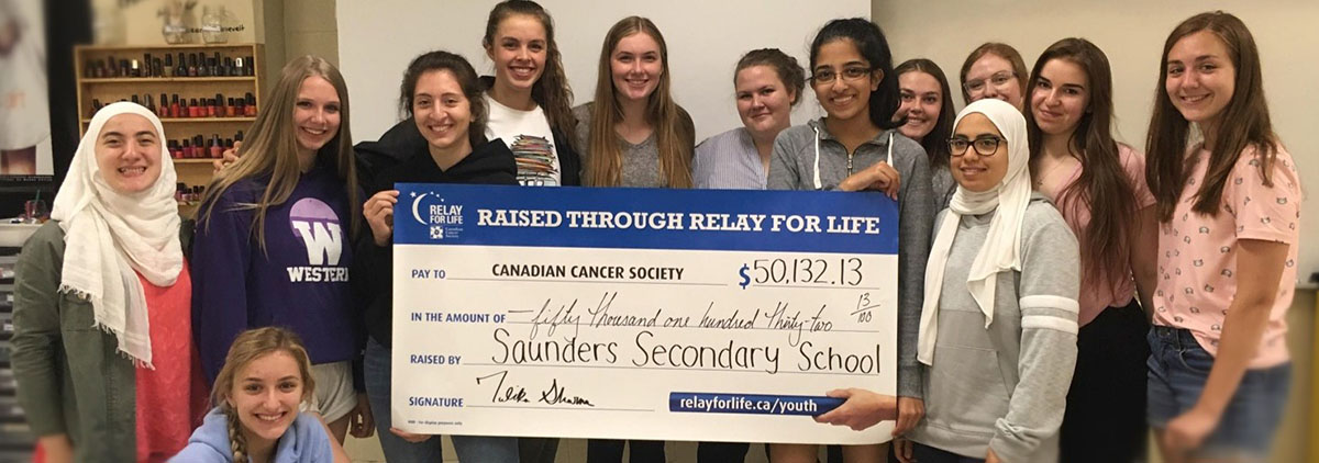 Saunders Secondary School students raise money for Relay for Life 2019