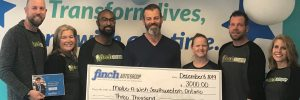 Cheque presentation to Make-A-Wish foundation